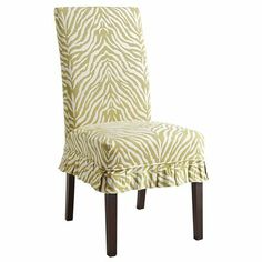dana parsons dining chair green geometric slipcover pier1 us