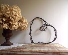 Barbed Wire Heart Wreath Rustic Farmhouse Chic by gazaboo.etsy.com $28.00