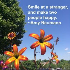 """""""Smile at a stranger, and make two people happy."""" ~ Amy Neumann #quote on http://charityideasblog.com """"Those who bring sunshine to the lives of others cannot keep it from themselves."""" ~ James M. Barrie #quote from http://charityideasblog.com A Dozen #Inspiring Quotes for an Insightful 2015"""