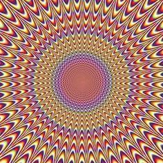 Het beroemde tunneleffect dat bereikt wordt door middel van visueel bedrog. Staar niet te lang naar deze afbeeldingen want je kr...