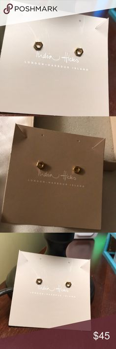 NWT India Hicks Gypsy Dancer Earrings New With Tags in Original Box India Hicks Gypsy Dancer Gold Earrings India Hicks Jewelry Earrings