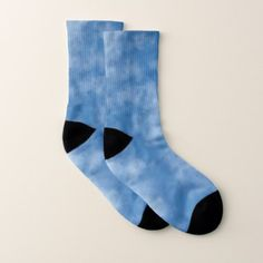 Partly Cloudy Blue Sky with Clouds Photo Socks - photography gifts diy custom unique special
