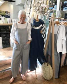 Gorgeous Cornelia modelling the linen jumpsuit in silver. She looks great!! So cute!! Love her  . They come in s/m  8-12 or m/l 14-18 £ 75. Not on our website yet as we are launching a new one soon!