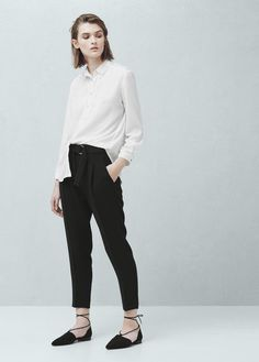 Belt baggy trousers | MANGO