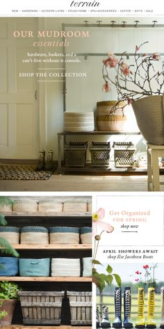 Our Mudroom Essentials: Boots, Baskets, and a Can't-Live-Without-It Console.