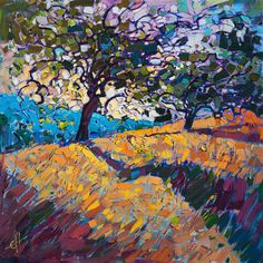 Paso Robles wine country painting by California painter Erin Hanson.