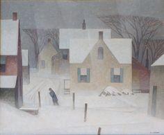 Snowstorm, 1957, Alfred Joseph Casson. Cnadian (1898 - 1992)