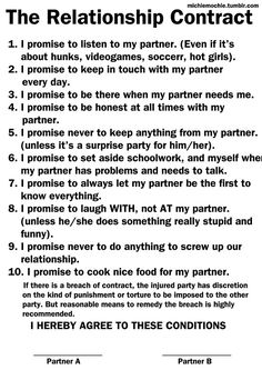 relationship contract google search