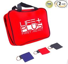 Emergency First Aid Kit Survival+FREE Mini Pouch From Life Plus. Supplies First Aid Sports Bag & For Office,Kitchen,Travel,Home,Car,Camping,Trauma,& Hiking. Secure Yourself From Accident Injuries Now!