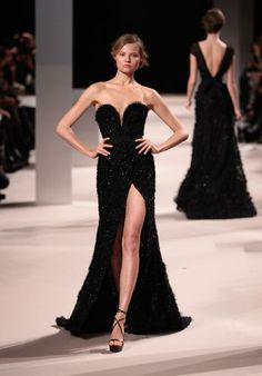 Elie Saab www.eliesaab.com. Love the slit!