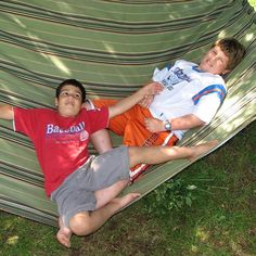 The boys hanging out in a hamock while on holiday in Prince Edward Island. Island Holidays, Prince Edward Island, Hanging Out, Hammock, Sons, Canada, Vacation, Instagram, Vacations