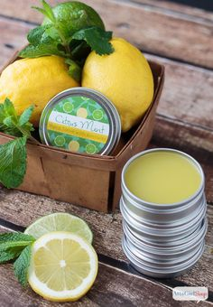 This homemade hand salve is an excellent moisturizer for dry skin, hands and feet. The citrus mint fragrance smells amazing. You can make your own for a fraction of what you would pay at bath and body stores.