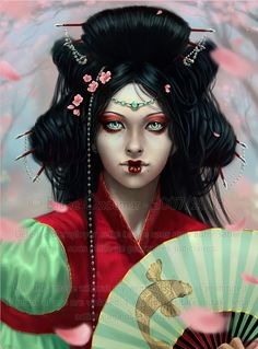 Tutorial de pintura digital avançada http://www.tutoriart.com.br/pintura-digital-passo-a-passo-photoshop-hanagumo/