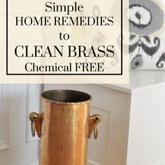 clean brass with home remedies ketchup, cleaning tips