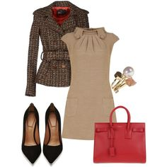 """Fall work outfit """"Preppy for Fall"""" by torinmia on Polyvore"""