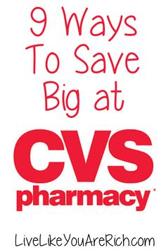 Ways to Save Big at CVS Awesome and easy ways to save and coupon at CVS.Awesome and easy ways to save and coupon at CVS. Ways To Save Money, Money Tips, Money Saving Tips, Saving Ideas, Couponing For Beginners, Extreme Couponing, Couponing 101, Financial Tips, Frugal Tips
