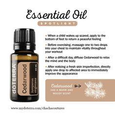 www.mydoterra.com/chachacoutures cedar wood essential oil