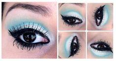 passo a passo, makeup, make up, maquiagem, maquiagem verde, green make up, eye, eyes,