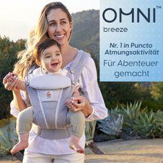 Neu im Shop   Ergobaby «Omni Breeze» Die Nummer 1 in puncto Atmungsaktivität. Die «Omni Breez» besteht aus zwei Schichten Meshamterial, welche für optimale Luftzirkulation sorgen. Das Material ist weich und passt sich super deinem Körper und dem deines Babys an. Verstellen der Tragposition ist einfach und mit wenigen Handgriffen erledigt. Die «Omni Breez» ist der komfortable Begleiter für jedes Abenteuer. Baby Center, Babys, Material, Adventure, Simple, Babies, Baby, Infants, Baby Baby