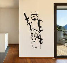 Star Wars Storm Trooper Vinyl Wall Art - Stickers Decals Vinyl Transfers