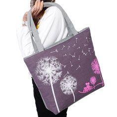 New Fashion 2016 Canvas Women Casual Tote Lady Large Bag Fashion Dandelion Handbags Shopping Bag New Women's Shoulder Bags F056 #CLICK! #clothing, #shoes, #jewelry, #women, #men