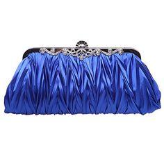 Fawziya Lady Fashion Vintage Satin Pleated Bridal Wedding Party Cocktail Handbag Clutch Evening Bag-Blue Fawziya http://www.amazon.com/dp/B00JB0Y9JS/ref=cm_sw_r_pi_dp_v2Z7ub0JCWEX7