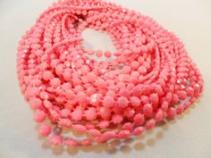 Vintage Necklace / Collar / Choker Pink Lucite 7 by KathiJanes
