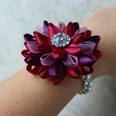 Flower Corsage Flower Wrist Corsage Maroon Corsage Purple Wine Corsage Maroon Wedding Flowers Wrist Flowers Wine and Purple Wedding
