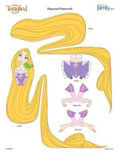 Tangled cut out paper models