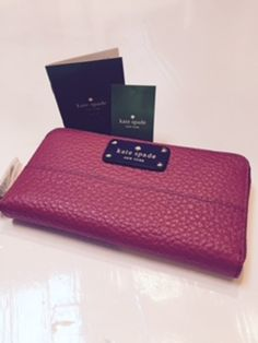 AUTHENTIC (NWT) Kate Spade Grove Court Lacey Wallet in Dynasty Red - $160