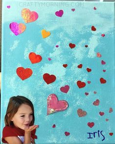 Blowing Kisses Canvas (Mother's Day Gift) - Crafty Morning Blowing Kisses Canvas (Mother's Day Gift) – Crafty Morning Diy Mother's Day Projects, Diy Mother's Day Crafts, Valentine's Day Crafts For Kids, Mother's Day Diy, Toddler Crafts, Preschool Mothers Day Gifts, Preschool Valentine Crafts, Diy Mothers Day Gifts, Valentines Day Activities