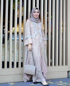 Image may contain: 1 person, standing and text Dress Muslim Modern, Kebaya Modern Dress, Kebaya Dress, Dress Pesta, Kebaya Hijab, Dress Brokat Muslim, Kebaya Muslim, Muslim Dress, Modern Hijab Fashion