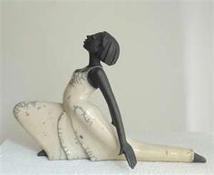 Sculpture Dancer - Art Ceramic Pottery by Margit Hohenberger