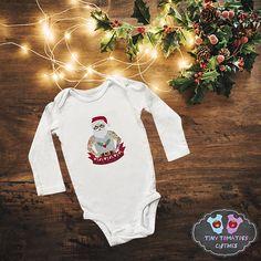 White, 6 Months Festive Threads Unisex Baby Christmas Santas Helper Outfit T-Shirt Romper