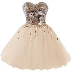 Dressystar Short A-Line Sweetheart Sparkling Beaded Prom Homecoming... ($90) ❤ liked on Polyvore featuring dresses, prom dresses, a line cocktail dress, short homecoming dresses, a line dress and beige prom dresses