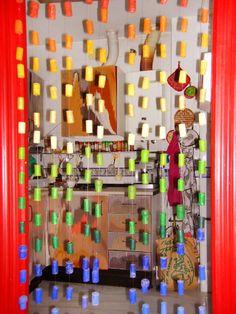 cortina de tapones de botellas