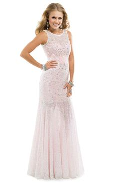 If there's one thing we can't get enough of, it's sparkle! This dress has it all!   Flirt #flirtprom #promdress #P4853 #pink #blush