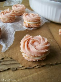 Baking with Blondie : 2013 Top Ten Cookies for this Year's Cookie Exchange Parties - raspberry spritzer with almond cream cheese