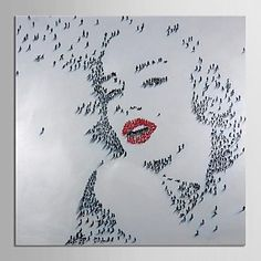 Modern Oil Painting Hand Painted Canvas Art People Marilyn Monroe Art with Stretched Frame Museum Quality Masterpiece – CAD $ 106.39