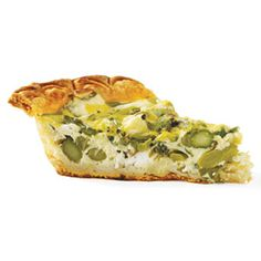 Roasted Asparagus & Goat Cheese Quiche-GOOD HOUSEKEEPING- http://www.goodhousekeeping.com/food-recipes/a13501/roasted-asparagus-goat-cheese-quiche-recipe-122911/