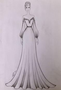 Fashion Drawing Tutorial, Fashion Figure Drawing, Fashion Drawing Dresses, Fashion Illustration Dresses, Fashion Illustrations, Dress Fashion, Party Fashion, Drawings Of Dresses, Style Fashion