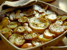 Laura Calder's French Potatoes  These French baker's-style potatoes might sound fancy, but the recipe calls for little more than butter, onions, some beef stock and fresh thyme.