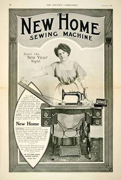 1908 Ad New Home Sewing Machine Household Woman Chores Mending Clothes YYC2