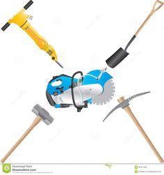 Shovel Hammer Saw Clip Art