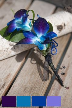 wedding hair with blue orchid - Google Search