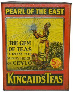 Thomas Kincaid - Ceylindo Tea Producer: Thomas Kincaid, 161 and 163 Colombo Street, Christchurch, New Zealand Tea Type: Black - a blend of ceylon teas Tea Packing: Loose tea Net Weight: 2270g Remark: Collection Number: 2001 Date of Evidence: 8/2009