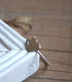 Bague Hamamelidae, bijou surmonté d'une feuille de bouleau