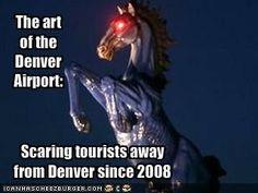 The art of the Denver Airport: new world order elite globalist criminals......yep, scary stuff!