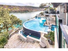 Lake Austin Real Estate and Waterfront Homes for Sale Waterfront Homes For Sale, Austin Real Estate, Austin House, Outdoor Living, Outdoor Decor, Cool Pools, Austin Texas, Future House, House Ideas
