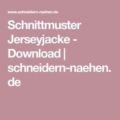 Schnittmuster Jerseyjacke - Download | schneidern-naehen.de